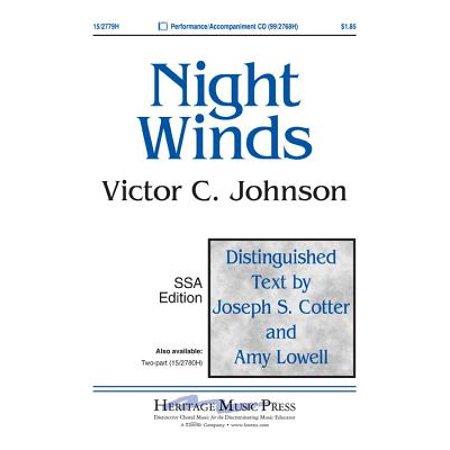 Night Winds-Ed Octavo - SSA,Piano - P/A CD - Victor C Johnson - Sheet Music - (Breath Of The Wild Piano Sheet Music)