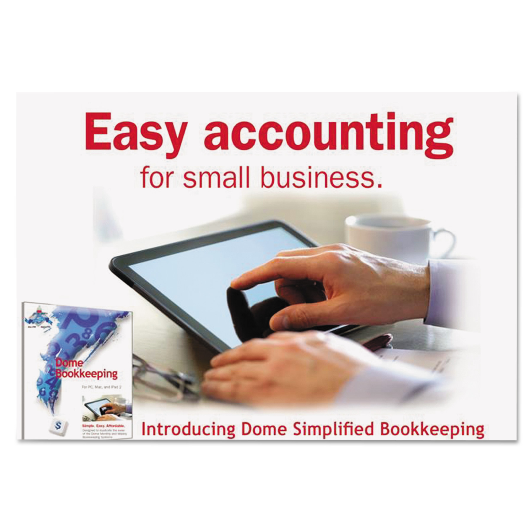 Dome Simplified Bookkeeping Software, Renewal, Mac OS X & Later, Windows 7, 8 -DOM0114R