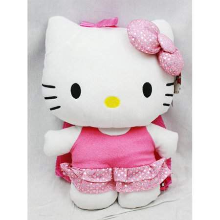 Plush Backpack - Hello Kitty - Bling Pink Dress 15