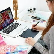 Wacom Intuos Creative Pen Tablet, Small, Black (CTL4100), Includes Free  Corel Software Download