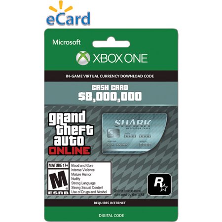 Microsoft Xbox One GTA V Megalodon Shark Cash $99.99 (Email (Best Gta V Glitches)