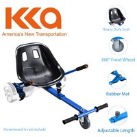 """Blue Hoverboard Seat Attachment, Hover Go Kart, Hoverboard Go Cart Accessories, Heavy Duty Frame, Fun for Kids Fits 6.5""""/8""""/10"""", Go Kart Conversion Kit For Hoverboard"""