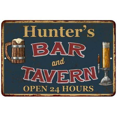 Hunter's Green Bar & Tavern Personalized Rustic Sign 8 x 12 High Gloss Metal 208120047415 ()