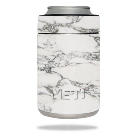 MightySkins Protective Vinyl Skin Decal for YETI Rambler Colster wrap cover sticker skins White