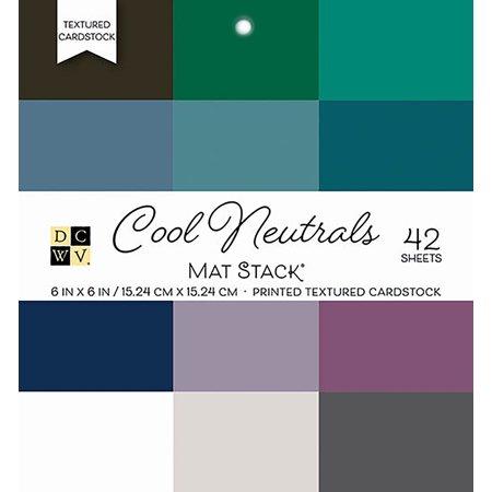 "Dcwv Single-Sided Cardstock Stack 6""X6"" 42/Pkg-Cool Neutrals Solid - image 1 de 1"