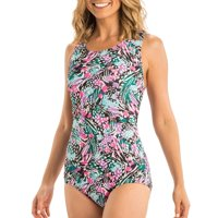Dolfin Aquashape Women's Print Conservative Lap SwimSuit in Multiple Colors and Sizes
