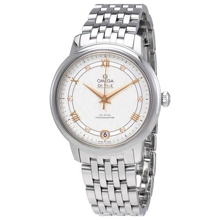 Omega De Ville Prestige Automatic Silver Dial Ladies Watch 424.10.33.20.52.001