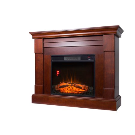 Decor Flame Electric Space Heater Fireplace With 47 Mantle