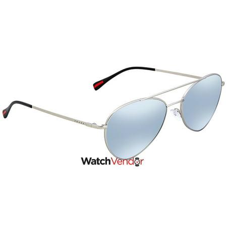 37c10aab69 Prada Blue Mirror, White Aviator Men's Sunglasses PS50SS-1AP5Q0-57    Walmart Canada