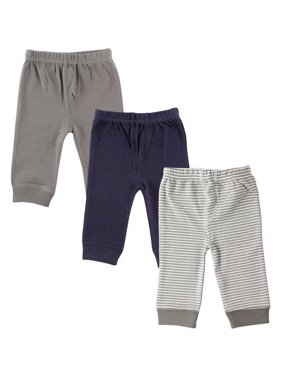 Luvable Friends Baby Boy Pants with Tapered Cuff, 3-Pack