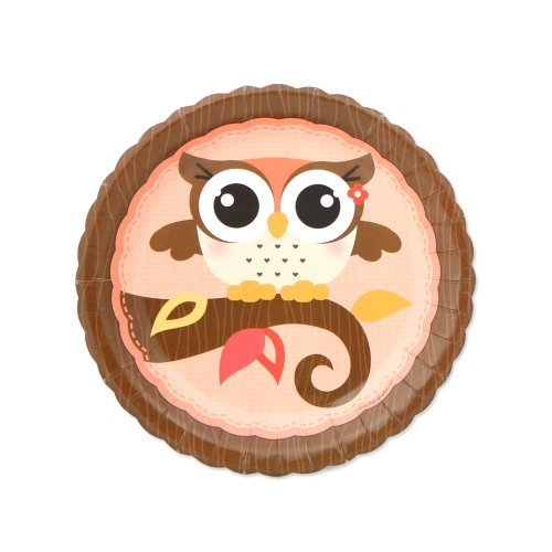 Owl Girl - Party Dessert Plates (8 count)