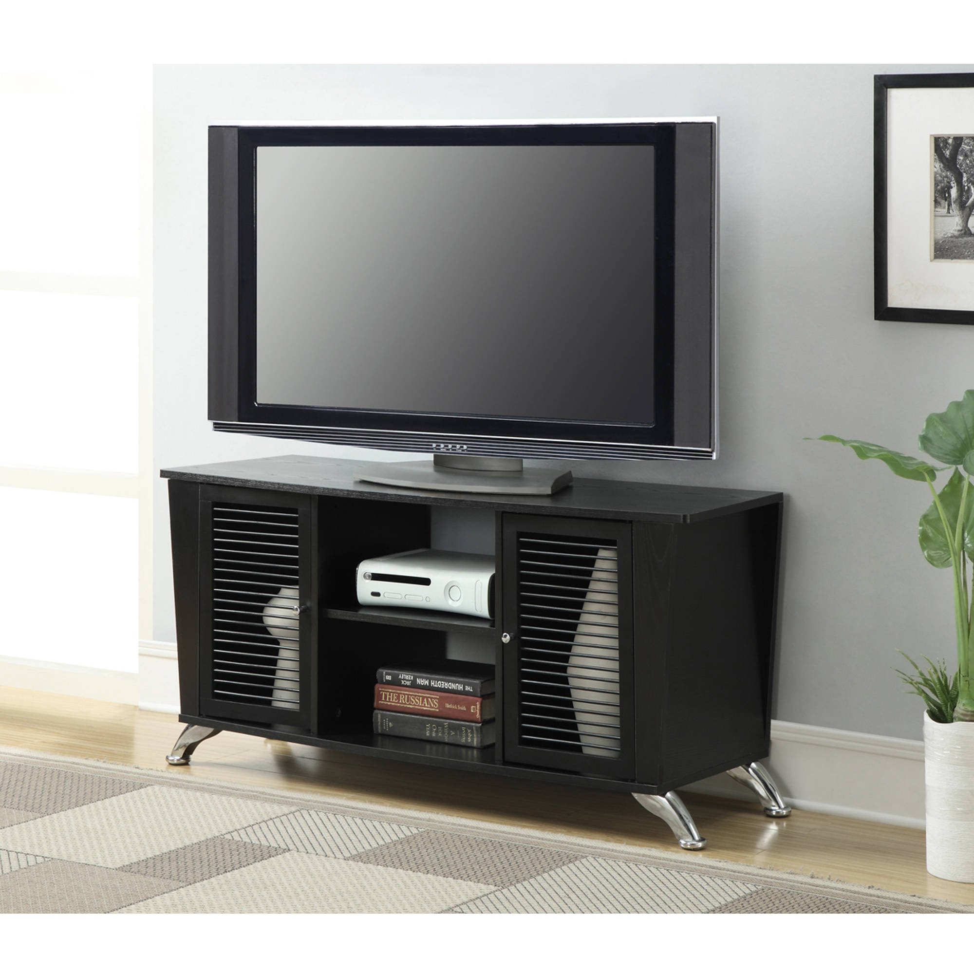 "Convenience Concepts Designs2Go TV Stand for TVs up to 50"", Black Voyager"