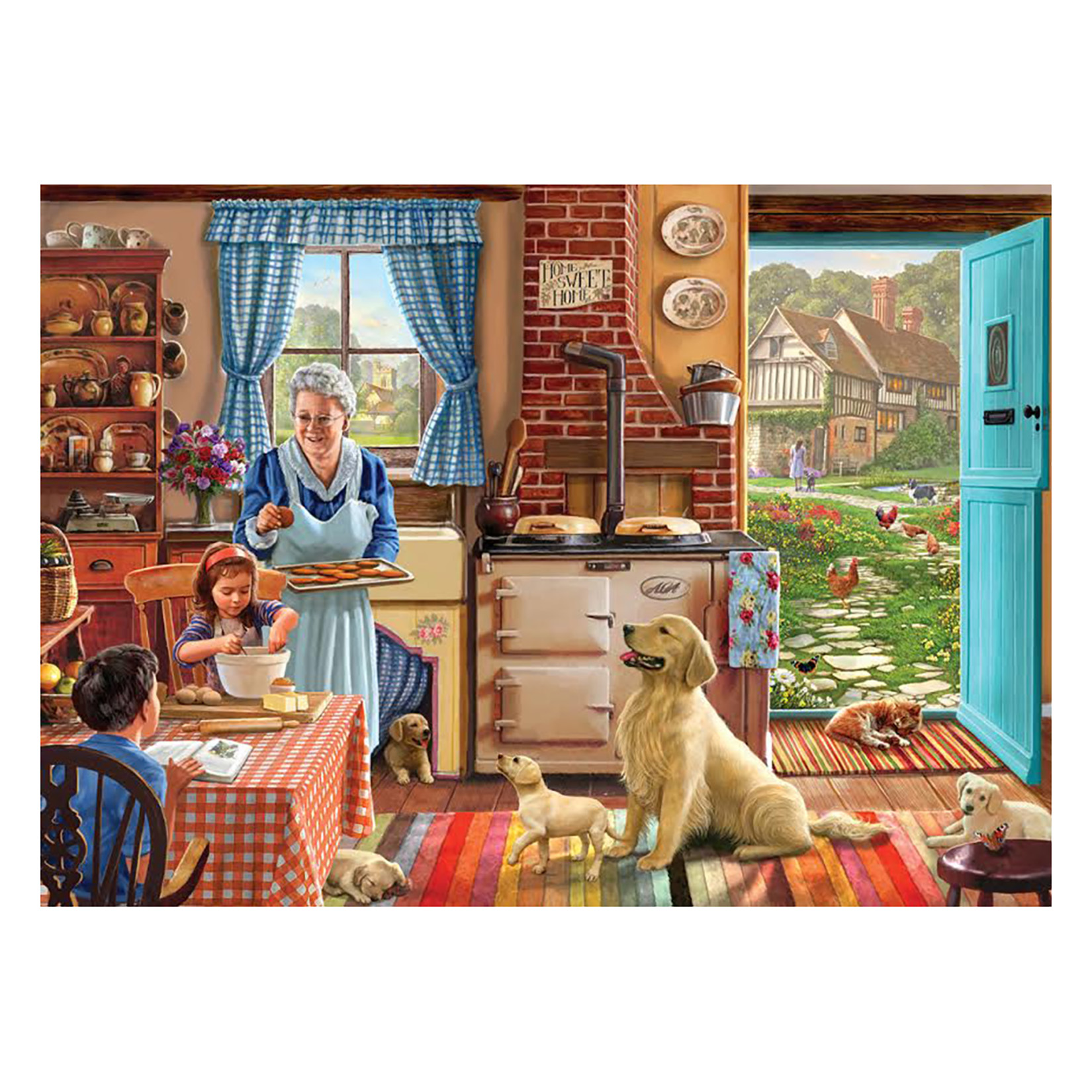 White Mountain Puzzles Home Sweet Home 1000 Piece Jigsaw Puzzle by White Mountain Puzzles