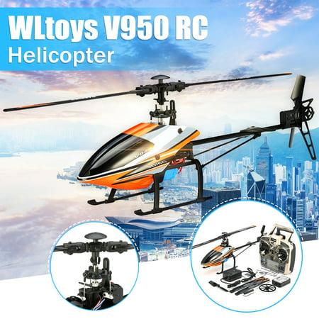 WLtoys V950 Kids Toys RC Helicopter RTF 2.4G 6CH 3D 6G Mode Brushless Flybarless RC Toys Christmas Birthday