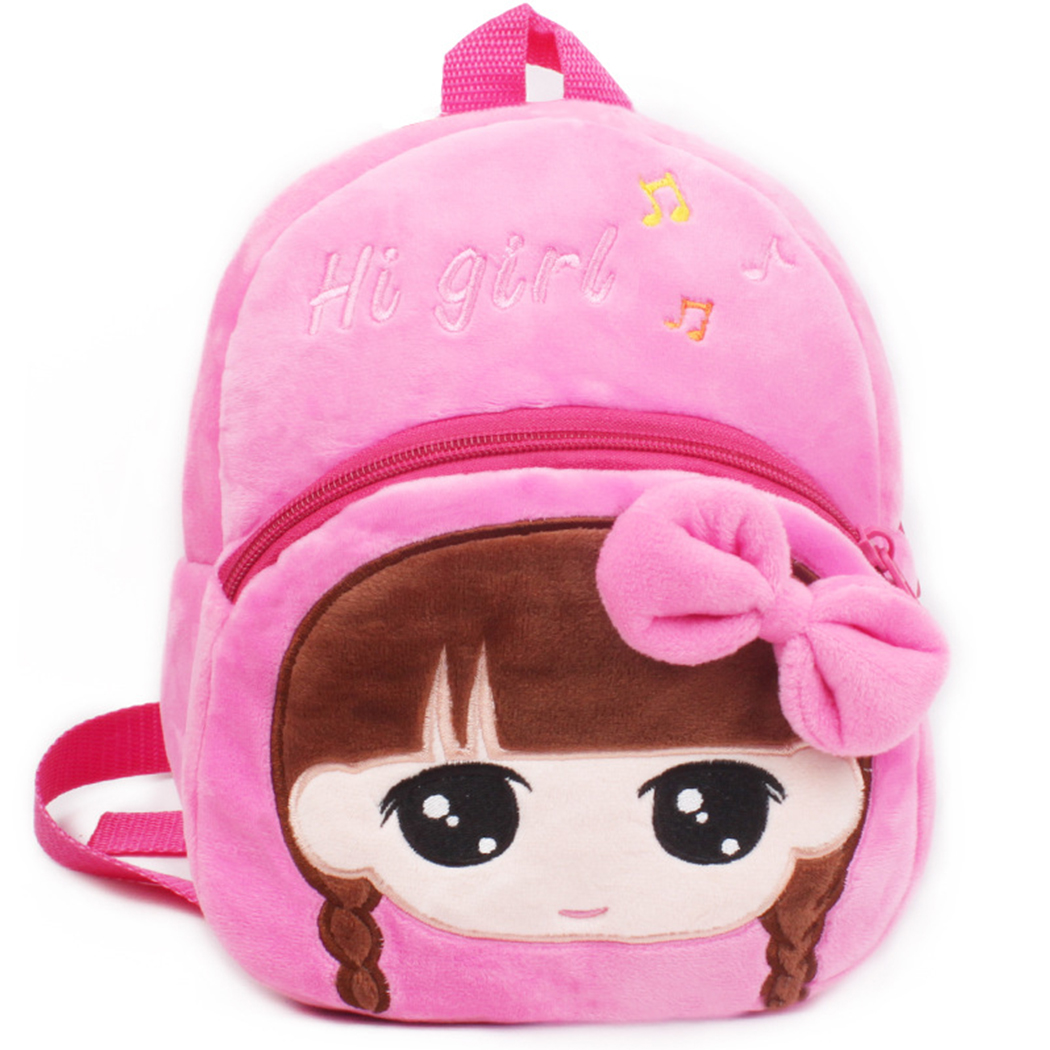 Toddler Backpack, Coofit Plush Backpack Creative Cute Bowknot Mini Kindergarten School Backpack Casual Small Travel Bag for Children Girls Boys Kids
