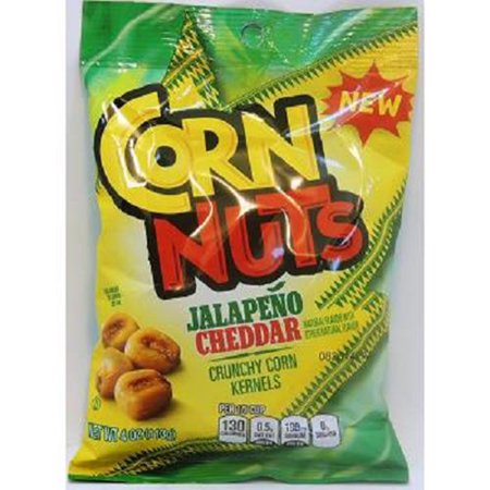 Corn Snacks (Corn Nuts Flavored Snack, Jalapeno Cheddar, 4 Ounce (Pack of 12))