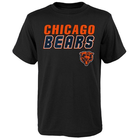 Youth Black Chicago Bears Outline T-Shirt