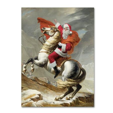 Limited Ed Fine Art (Trademark Fine Art 'David-Napoleon Crossing The Alps May 20,1800' Canvas Art by Ed Wheeler )