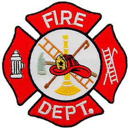 US Fire Department Small Embroidered Patch ()