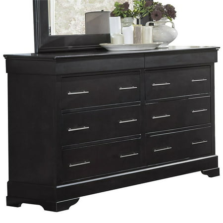 LifeStyle Solutions Harrington 8 Drawer Double Dresser in Java (Dj Dresser)