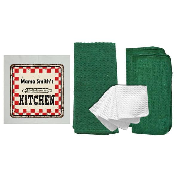 "Personalized ""Mom's Kitchen"" 8 Piece Kitchen Towel Set"