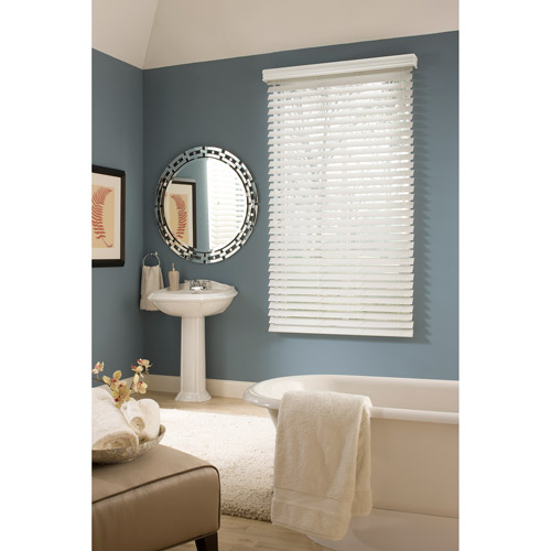 "Richfield Studio 2.5"" Faux Wood Blinds, White"