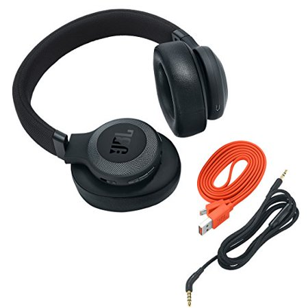 0c7b4611278 Refurbished JBL E65BTNC Wireless Over-Ear Noise-Cancelling Headphones with  Mic and One-Button Remote (Black) - Walmart.com
