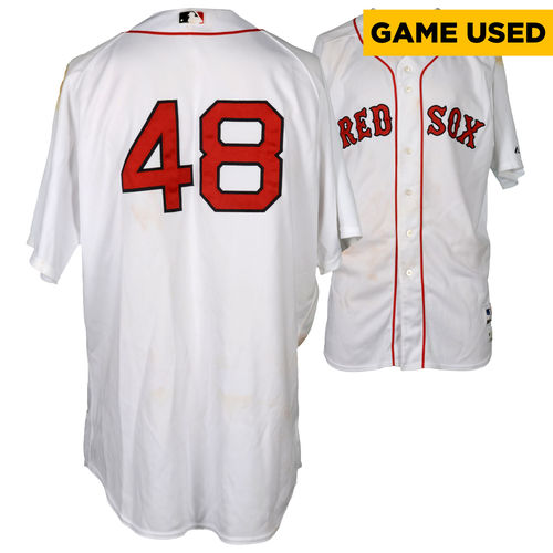 Pablo Sandoval Boston Red Sox Game-Used #48 Jersey vs. New York Yankees on July 11, 2015