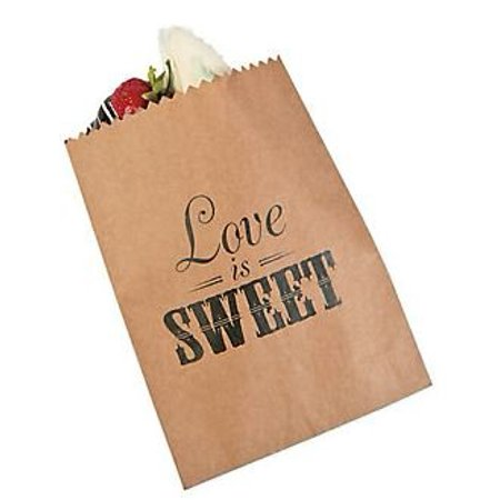 Love Is Sweet Favor Bags For Wedding Candy Buffet Dessert Table And Cake