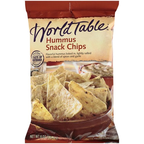 World Table Hummus Snack Chips, 8 oz
