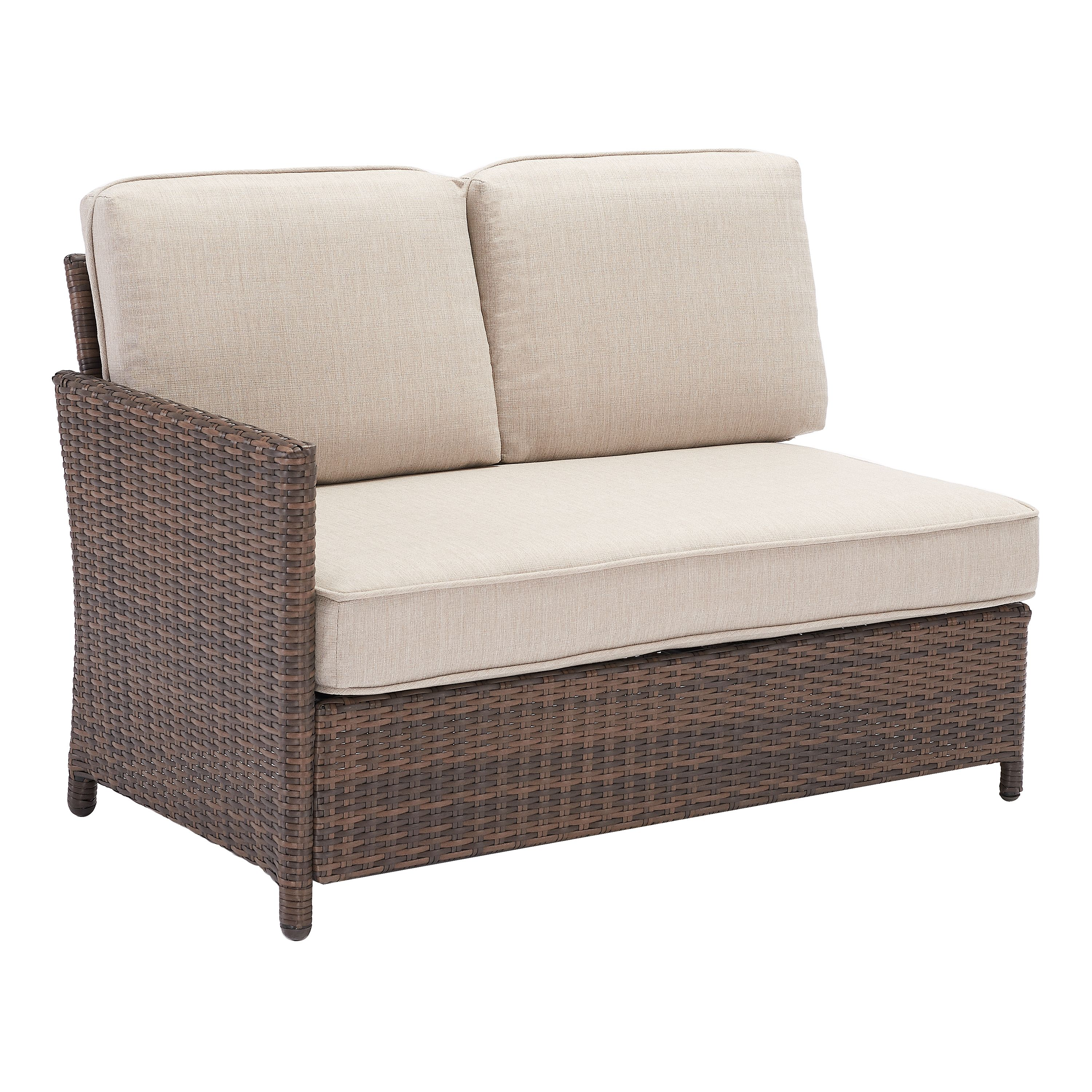 Better Homes & Gardens Mayers Bay 2-Piece Sectional Seating and Table Set with Tan Cushions
