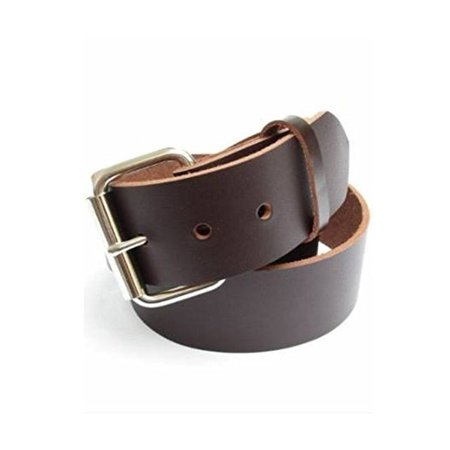 Dangerous Threads Concealed Carry Weapon Belt (CCW) -- Mens Heavy Dark Chocolate Brown Leather Gun Belt 1 3/4