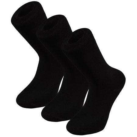 Easy Sock Knitting Patterns - Shepherd's Men 3 Pack Classic Fit Flat Knit Dress Socks, Sock Size 9.5-11, Black