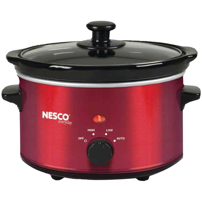 Nesco American Harvest SC-150R 1.5 qt. Slow Oval Cooker - Metallic Red,