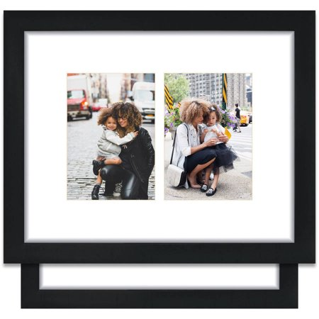 Craig Frames 11x14 Black Picture Frame, Single White Collage Mat ...