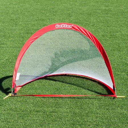 Set of 2 Portable 4' Pop-Up Soccer Goals Set Backyard w/ Carrying Bag 6 Cones - image 5 of 7