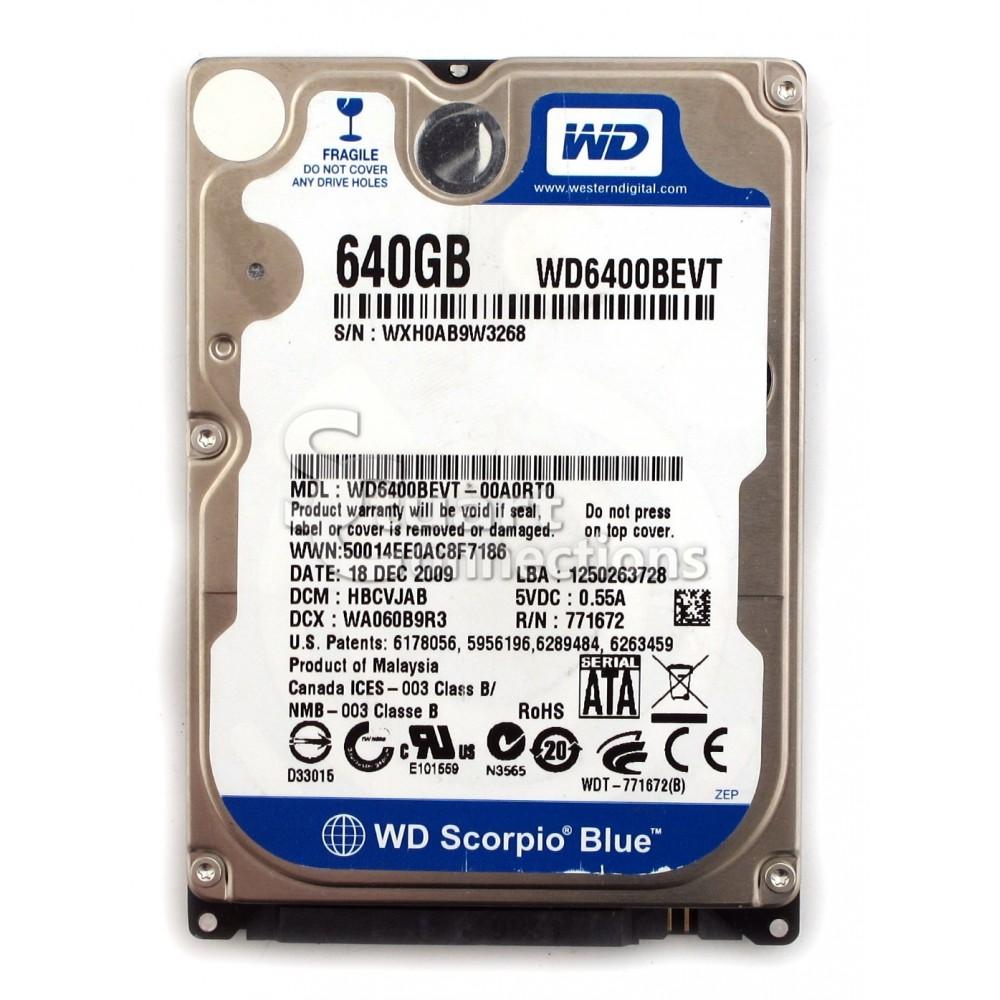 Western Digital Scorpio Blue WD6400BEVT 640GB 5400 RPM 8M...
