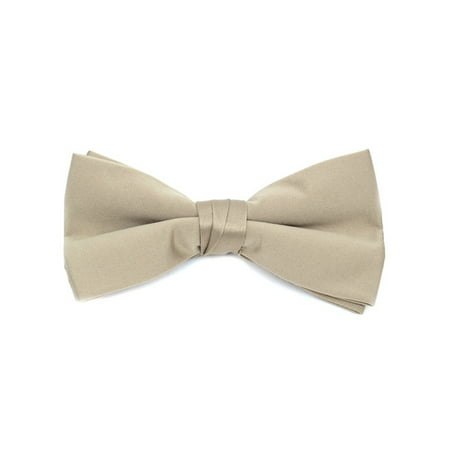 Young Boy's Pre-tied Adjustable Length Bow Tie - Formal Tuxedo Solid Color - White Bowtie