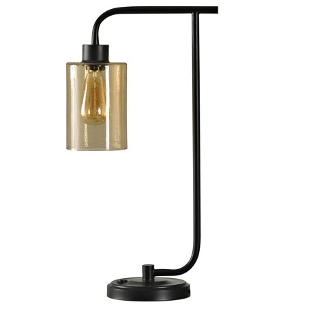 Better Homes & Gardens - Industrial Metal Table Lamp with Glass Shade - Restoration Bronze Finish