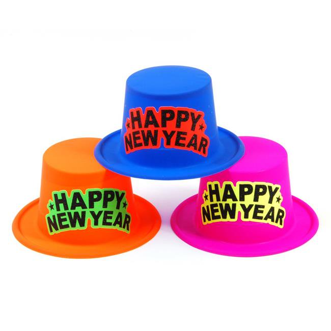 Eros F01-NY423 Neon New Years Hat with Glitter Happy New ...