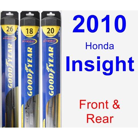 2010 Honda Insight Wiper Blade Set/Kit (Front & Rear) (3 Blades) - Hybrid