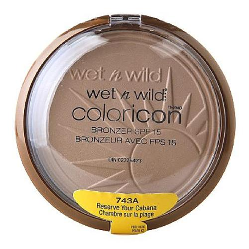 Wet n Wild Color Icon Bronzer with SPF 15, Reserve Your Cabana [743A] 0.46 oz (Pack of 3)