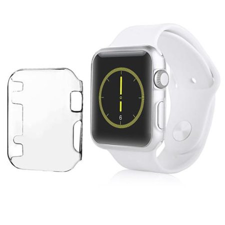 Insten Clear Slim Thin Hard Snap On Protective Case For Apple Watch iWatch 42MM Sport Edition Series 1