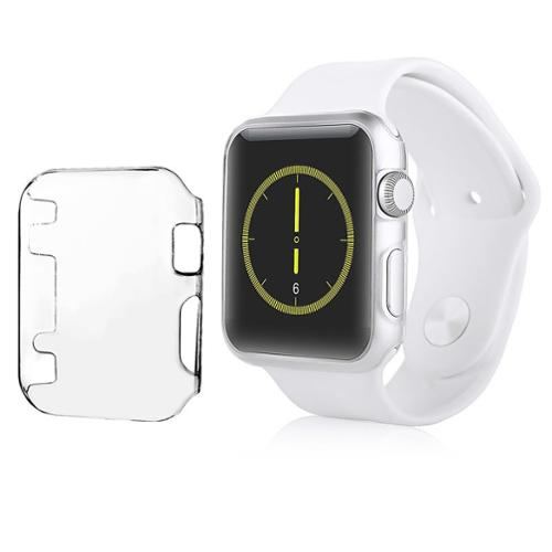 Insten Screen Protector Case for Apple Watch 42mm Series 1 Clear, Snap On Slim Full Covered Hard Cover Case for iWatch