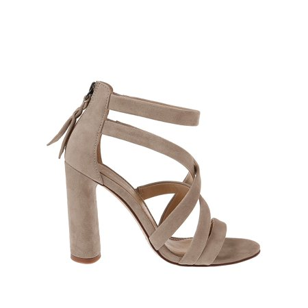 Stuart Block Heel Suede Sandals (Bandolino Suede Sandals)
