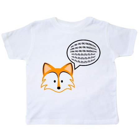 Inktastic Fox Says Toddler T Shirt The Ylvis Say Youtube Trending Viral Tees