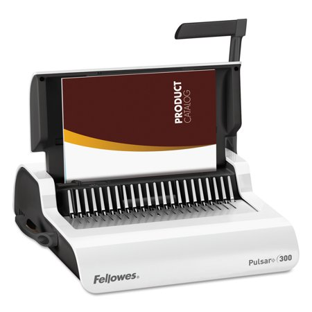 Fellowes Pulsar Manual Comb Binding System, 300 Sheets, 18 1/8 x 15 3/8 x 5 1/8, (Best Binding Machines)