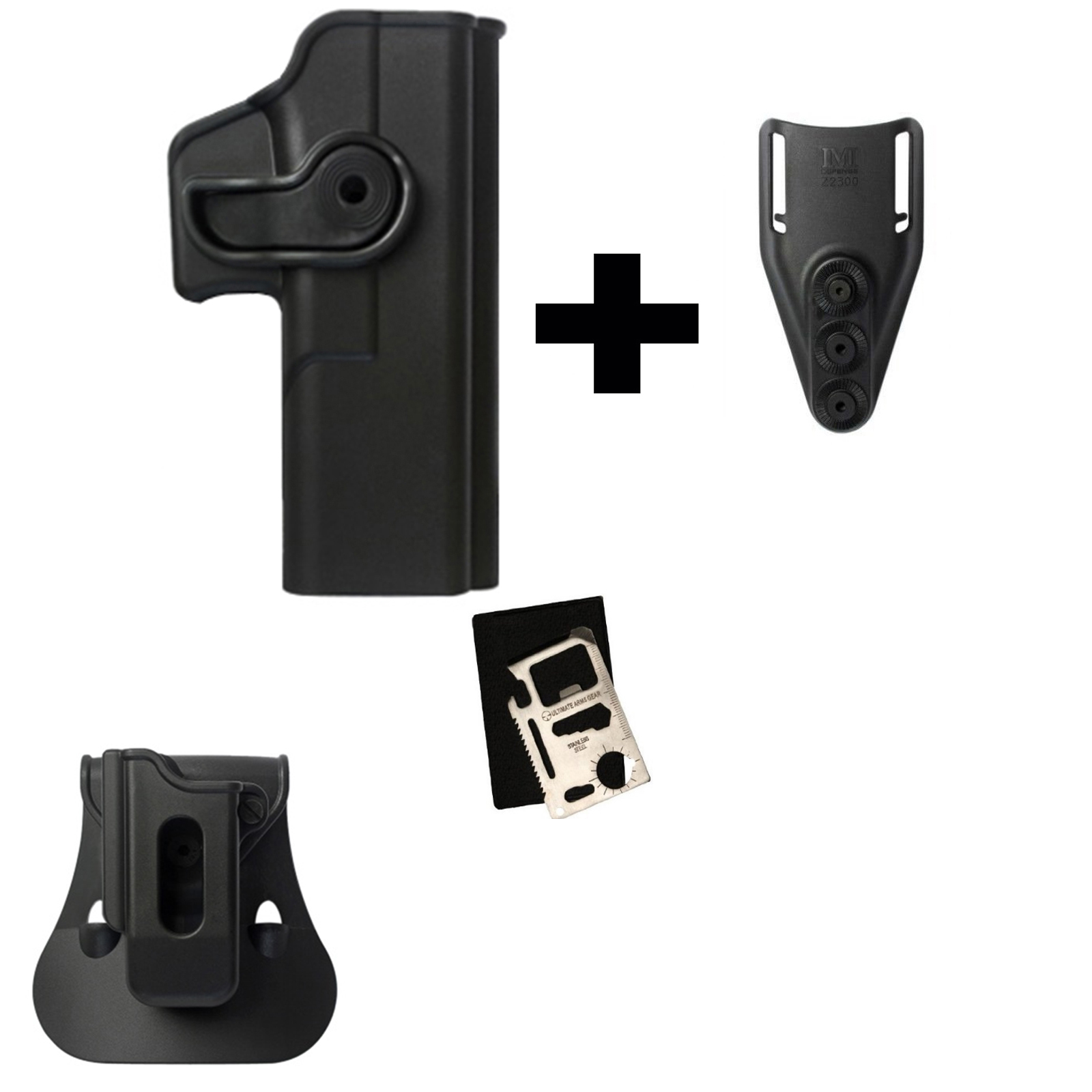 IMI Defense ZSP08 Single Mag Pouch & Paddle + Z1050 Rotate Holster Glock 20 21 28 30 37 38 Right Hand Gen 4 Compatible,... by