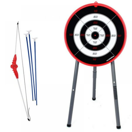 crowdstage Adults Kids Abecedarian Archery Set with Targets with 3 Arrows + 1 Bow Black New thumbnail