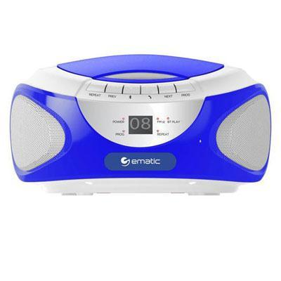 Ematic Cd Bluetooth Boombox Blue